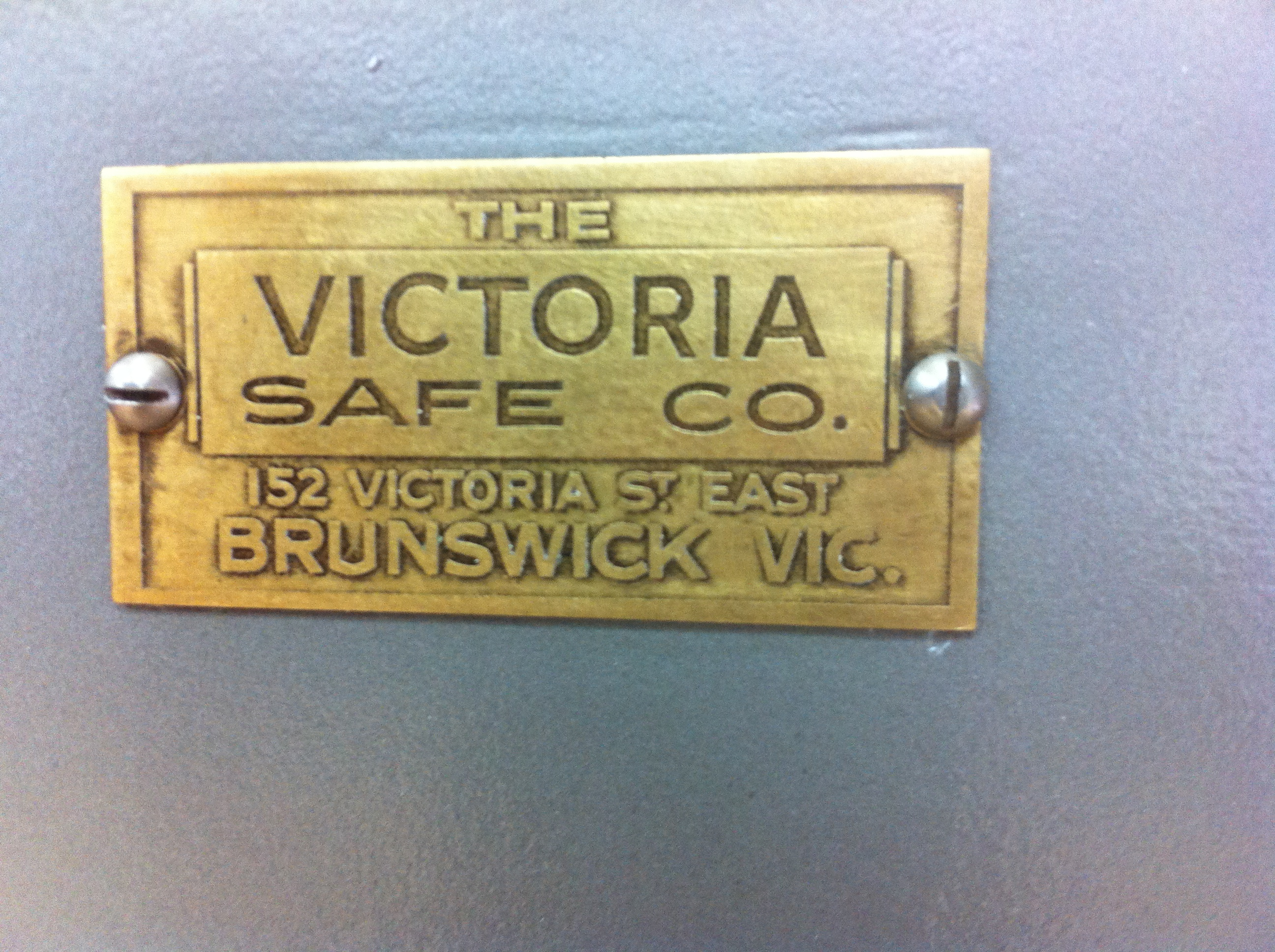 Victoria Safe Co. Brunswick. Vic